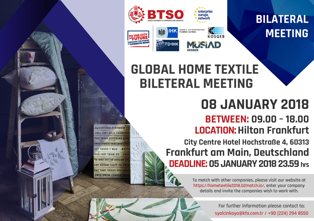 GLOBAL HOME TEXTILE BILATERAL MEETINGS - Info