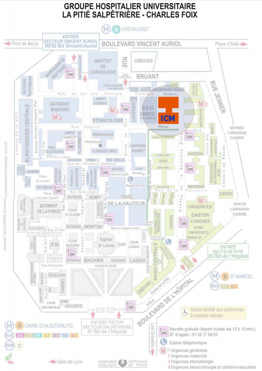 Plan d'accès ICM